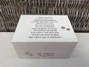 Personalised In Memory Of Box Loved One ~ DAD ~ FATHER any Name Bereavement Loss - 253570243362